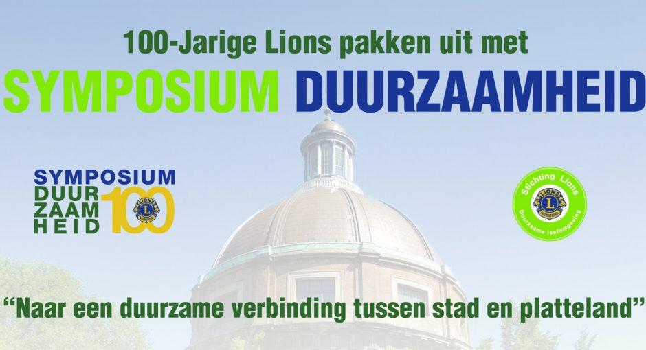 Lions Centennial Symposium Duurzaamheid